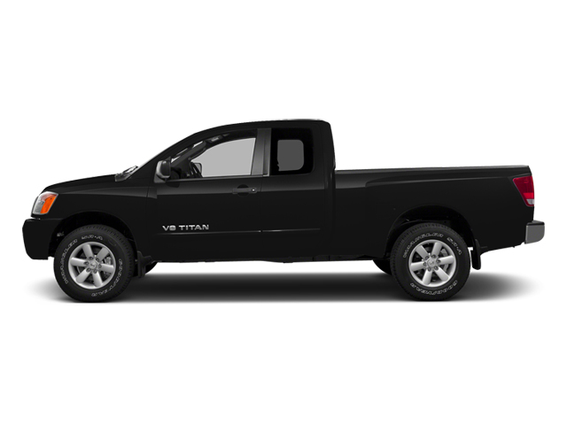 Galaxy Black Metallic 2014 Nissan Titan Pictures Titan King Cab S 4WD photos side view
