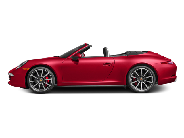 Guards Red 2014 Porsche 911 Pictures 911 Cabriolet 2D 4 AWD H6 photos side view