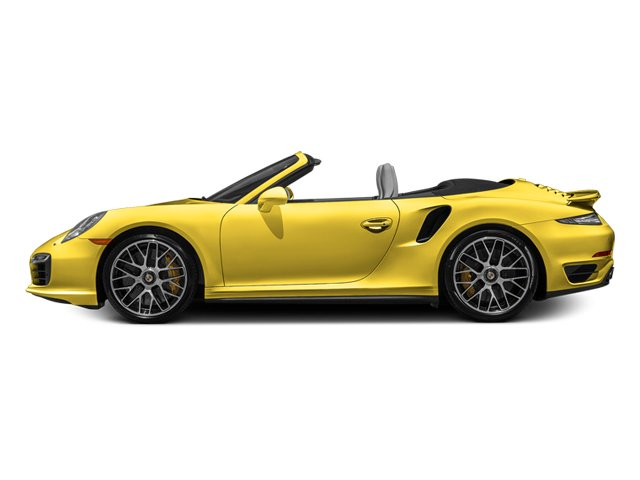 Racing Yellow 2014 Porsche 911 Pictures 911 Cabriolet 2D S AWD H6 Turbo photos side view