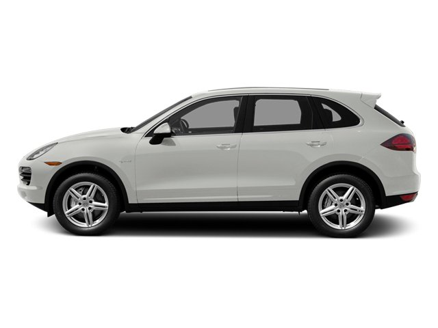 White 2014 Porsche Cayenne Pictures Cayenne Utility 4D S AWD Hybrid V6 photos side view