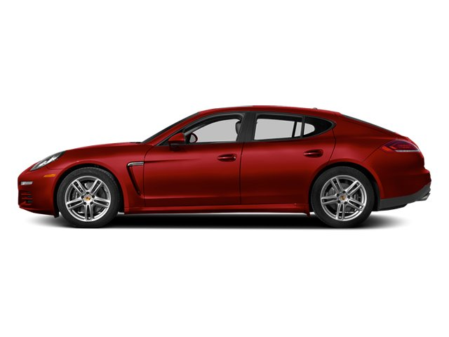 Carmine Red 2014 Porsche Panamera Pictures Panamera Hatchback 4D S V6 Turbo photos side view