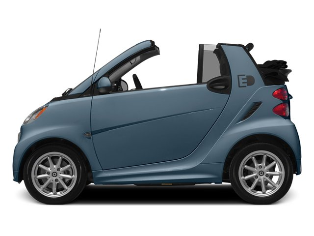 Light Blue Metallic 2014 smart fortwo electric drive Pictures fortwo electric drive Convertible 2D Electric photos side view