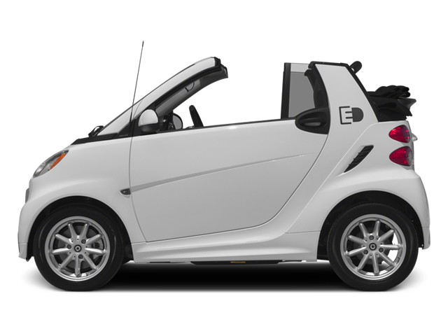 Crystal White 2014 smart fortwo electric drive Pictures fortwo electric drive Convertible 2D Electric photos side view