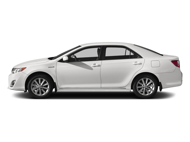 Super White 2014 Toyota Camry Hybrid Pictures Camry Hybrid Sedan 4D LE I4 Hybrid photos side view