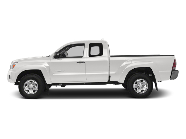 Super White 2014 Toyota Tacoma Pictures Tacoma Base Access Cab 2WD I4 photos side view