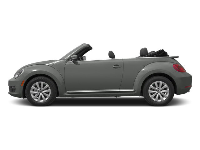 Platinum Gray Metallic/Black Roof 2014 Volkswagen Beetle Convertible Pictures Beetle Convertible Convertible 2D TDI I4 photos side view