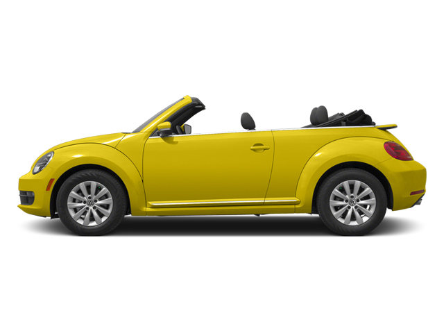 Yellow Rush/Black Roof 2014 Volkswagen Beetle Convertible Pictures Beetle Convertible Convertible 2D TDI I4 photos side view