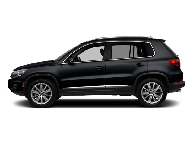 Deep Black Pearl 2014 Volkswagen Tiguan Pictures Tiguan Utility 4D SEL 2WD I4 Turbo photos side view