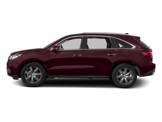 Dark Cherry Pearl 2015 Acura MDX Pictures MDX Utility 4D Advance DVD AWD V6 photos side view