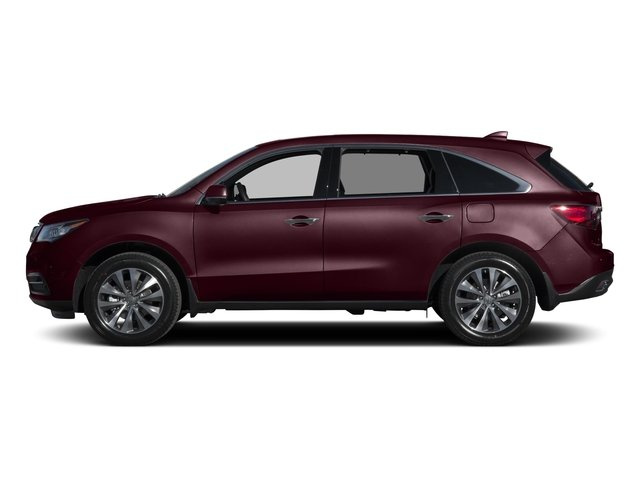 Dark Cherry Pearl 2015 Acura MDX Pictures MDX Utility 4D Technology DVD 2WD V6 photos side view