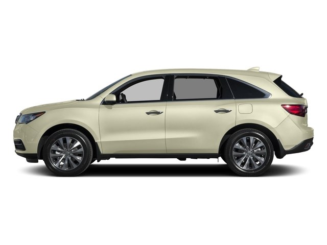 White Diamond Pearl 2015 Acura MDX Pictures MDX Utility 4D Technology DVD 2WD V6 photos side view