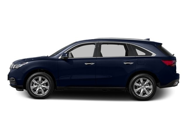 Fathom Blue Pearl 2015 Acura MDX Pictures MDX Utility 4D Advance DVD 2WD V6 photos side view