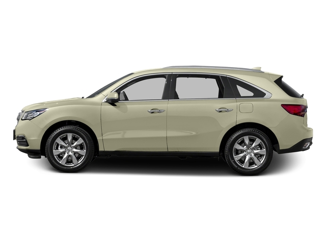 White Diamond Pearl 2015 Acura MDX Pictures MDX Utility 4D Advance DVD 2WD V6 photos side view
