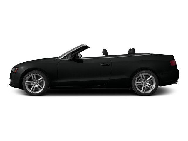Mythos Black Metallic/Black Roof 2015 Audi A5 Pictures A5 Convertible 2D Premium Plus AWD photos side view