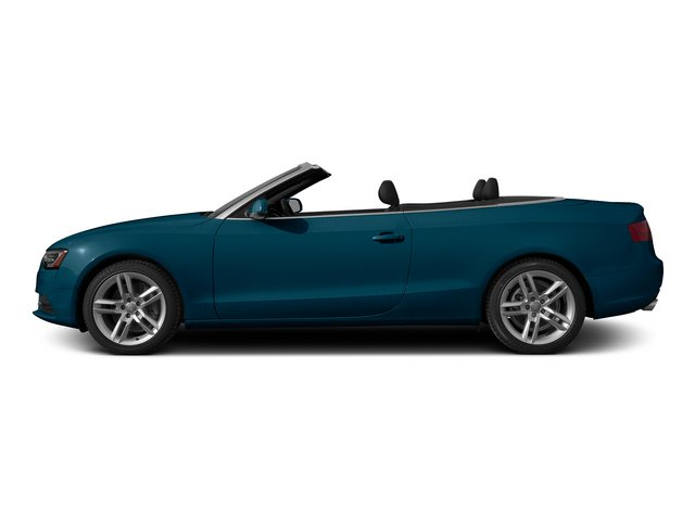 Utopia Blue Metallic/Black Roof 2015 Audi A5 Pictures A5 Convertible 2D Premium Plus AWD photos side view