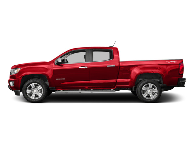 Red Hot 2015 Chevrolet Colorado Pictures Colorado Crew Cab Work Truck 2WD photos side view