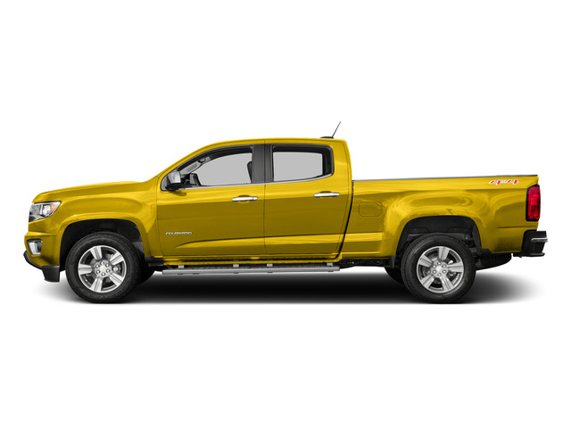 Rally Yellow 2015 Chevrolet Colorado Pictures Colorado Crew Cab Work Truck 2WD photos side view