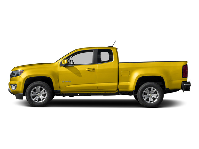 Rally Yellow 2015 Chevrolet Colorado Pictures Colorado Extended Cab LT 4WD photos side view