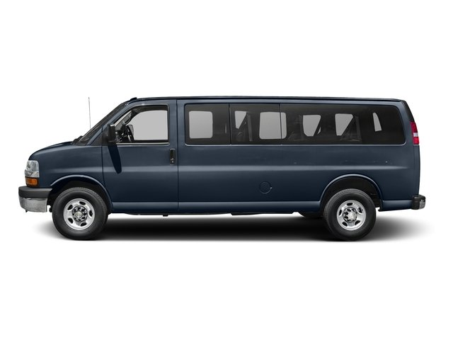 Dark Blue Metallic 2015 Chevrolet Express Passenger Pictures Express Passenger Express Van LT 135 photos side view