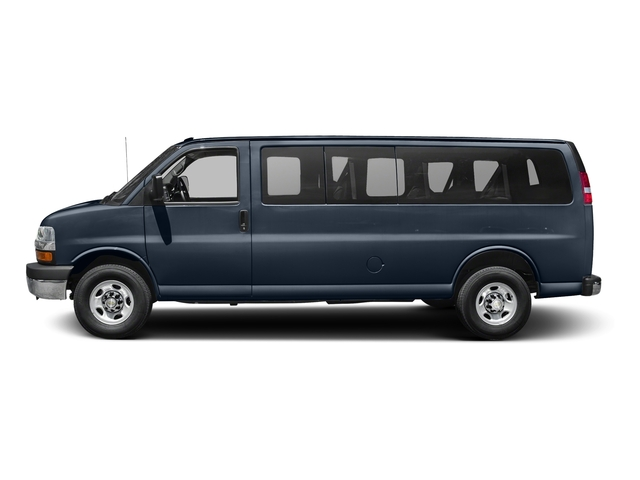 Dark Blue Metallic 2015 Chevrolet Express Passenger Pictures Express Passenger Express Van LS 135 photos side view