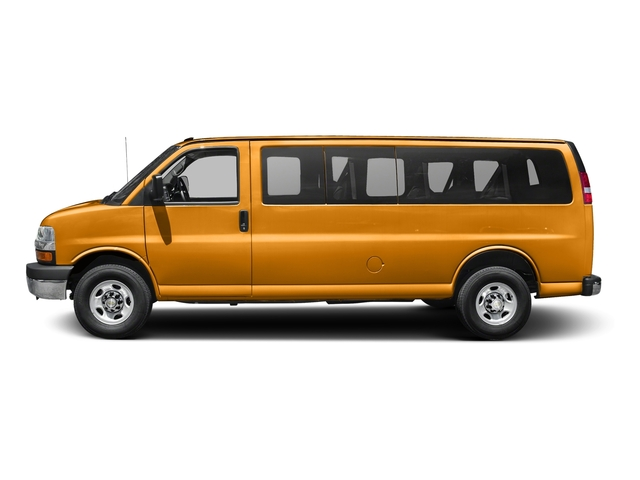 Wheatland Yellow 2015 Chevrolet Express Passenger Pictures Express Passenger Extended Express Van LS 155 photos side view