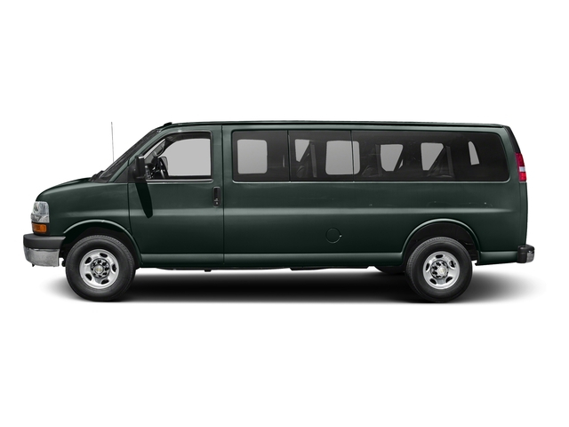 Rainforest Green Metallic 2015 Chevrolet Express Passenger Pictures Express Passenger Express Van LT 135 photos side view