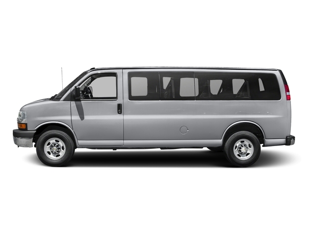 Silver Ice Metallic 2015 Chevrolet Express Passenger Pictures Express Passenger Extended Express Van LS 155 photos side view