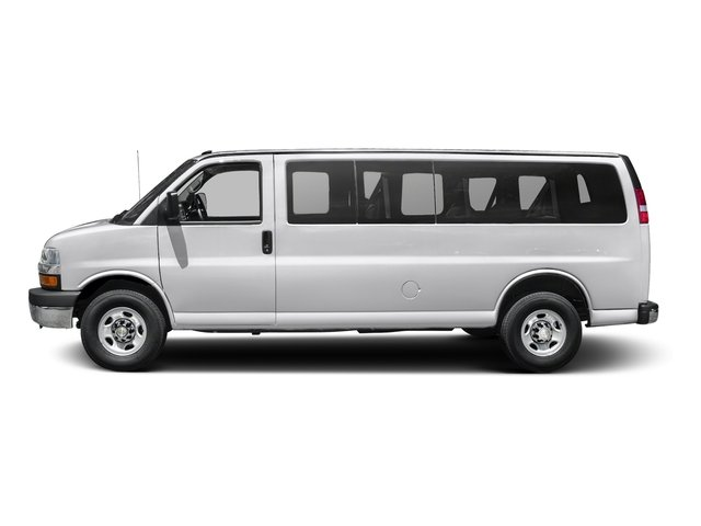 Summit White 2015 Chevrolet Express Passenger Pictures Express Passenger Extended Express Van LS 155 photos side view