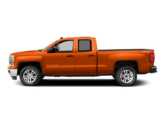 Sunset Orange Metallic 2015 Chevrolet Silverado 1500 Pictures Silverado 1500 Extended Cab LTZ 2WD photos side view