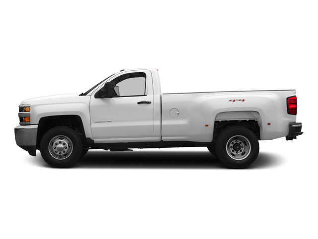 Summit White 2015 Chevrolet Silverado 3500HD Pictures Silverado 3500HD Regular Cab LT 4WD photos side view