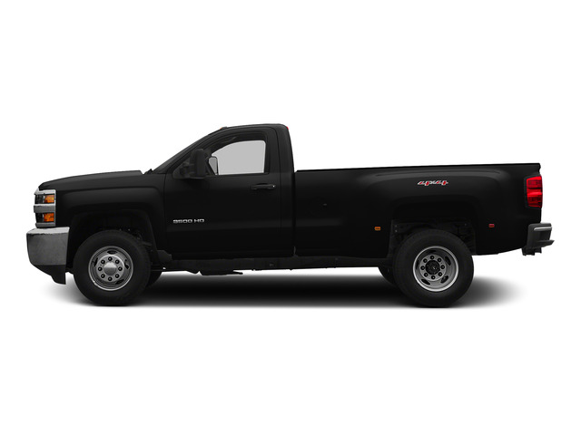 Black 2015 Chevrolet Silverado 3500HD Pictures Silverado 3500HD Regular Cab LT 4WD photos side view