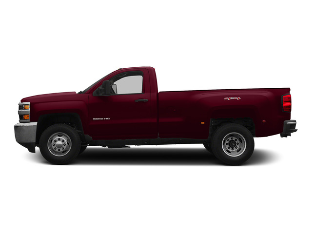 Deep Ruby Metallic 2015 Chevrolet Silverado 3500HD Pictures Silverado 3500HD Regular Cab LT 4WD photos side view
