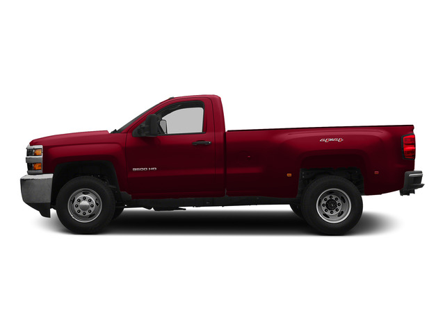 Victory Red 2015 Chevrolet Silverado 3500HD Pictures Silverado 3500HD Regular Cab LT 4WD photos side view