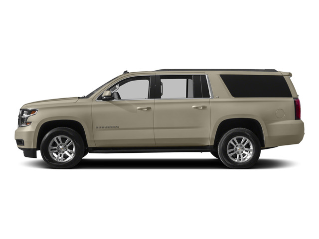 Champagne Silver Metallic 2015 Chevrolet Suburban Pictures Suburban Utility 4D LT 4WD V8 photos side view