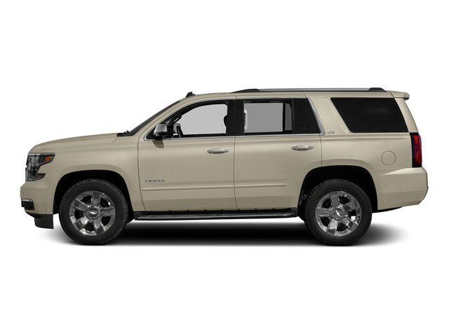Champagne Silver Metallic 2015 Chevrolet Tahoe Pictures Tahoe Utility 4D LT 4WD V8 photos side view