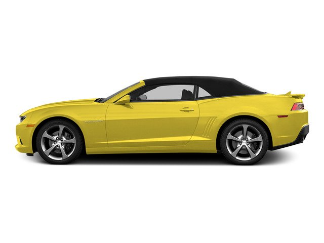 Bright Yellow 2015 Chevrolet Camaro Pictures Camaro Convertible 2D SS V8 photos side view