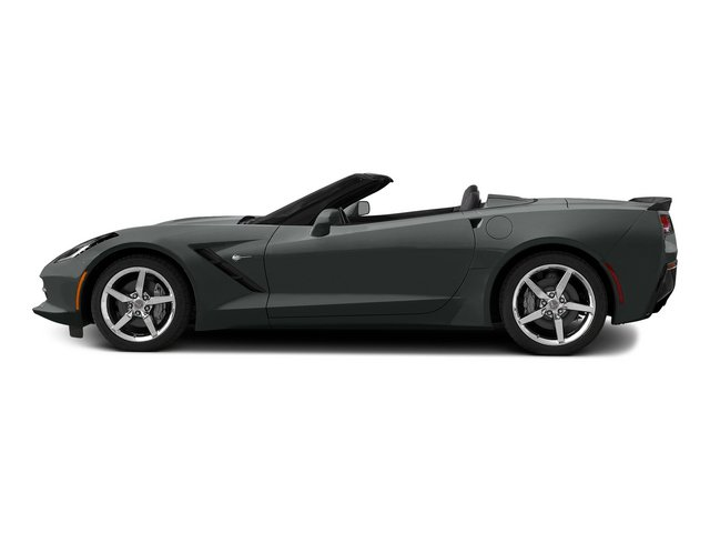 Shark Gray Metallic 2015 Chevrolet Corvette Pictures Corvette Convertible 2D Z51 LT V8 photos side view