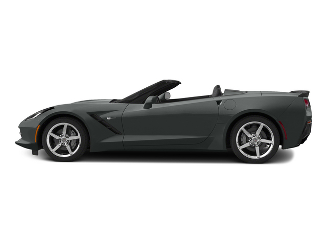 Shark Gray Metallic 2015 Chevrolet Corvette Pictures Corvette Convertible 2D Z51 3LT V8 photos side view
