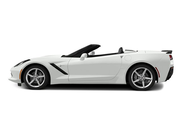 Arctic White 2015 Chevrolet Corvette Pictures Corvette Convertible 2D Z51 3LT V8 photos side view