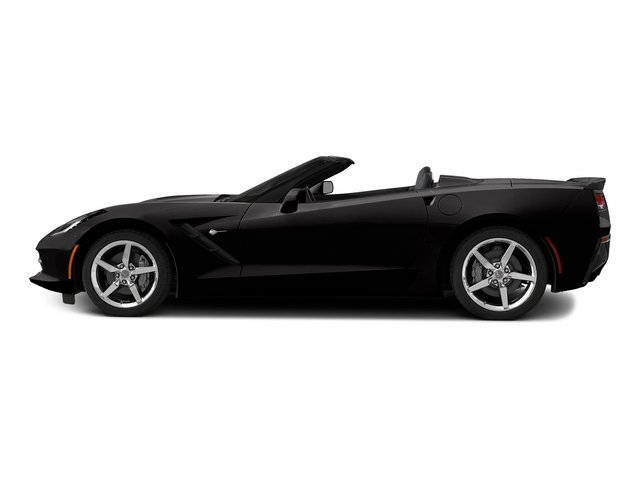 Black 2015 Chevrolet Corvette Pictures Corvette Convertible 2D Z51 3LT V8 photos side view
