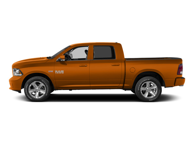 Omaha Orange 2015 Ram Truck 1500 Pictures 1500 Crew Cab SSV 4WD photos side view