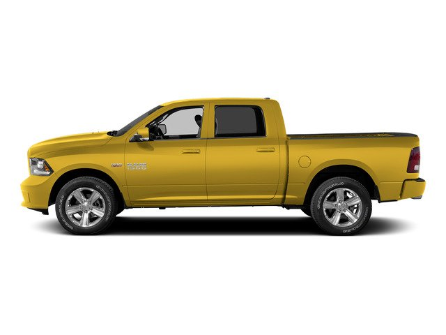 Yellow 2015 Ram Truck 1500 Pictures 1500 Crew Cab Express 4WD photos side view