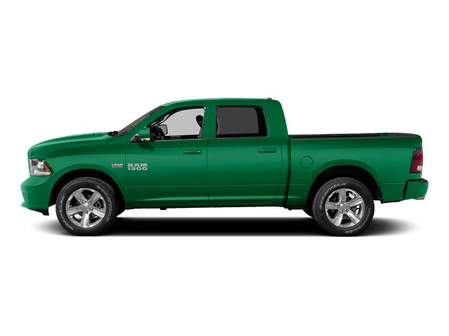Bright Green 2015 Ram Truck 1500 Pictures 1500 Crew Cab SLT 4WD photos side view