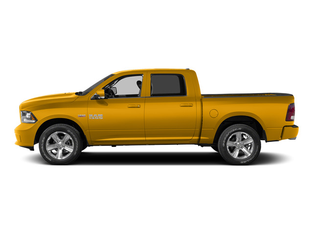 Construction Yellow 2015 Ram Truck 1500 Pictures 1500 Crew Cab SLT 4WD photos side view