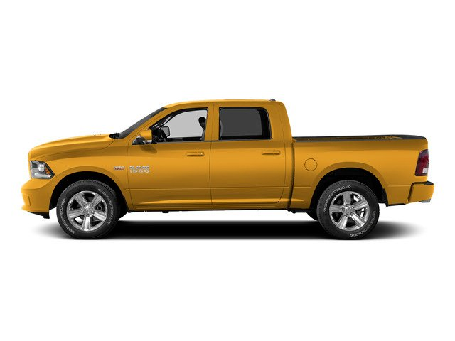 Construction Yellow 2015 Ram Truck 1500 Pictures 1500 Crew Cab SSV 4WD photos side view