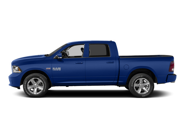 Blue Streak Pearlcoat 2015 Ram Truck 1500 Pictures 1500 Crew Cab Laramie 4WD photos side view