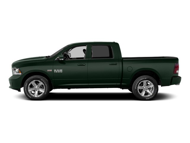 Black Forest Green Pearlcoat 2015 Ram Truck 1500 Pictures 1500 Crew Cab Laramie 4WD photos side view