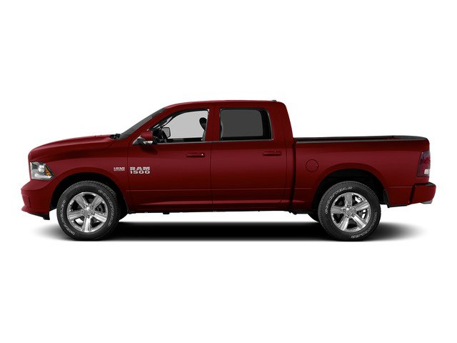 Deep Cherry Red Crystal Pearlcoat 2015 Ram Truck 1500 Pictures 1500 Crew Cab Longhorn 4WD photos side view