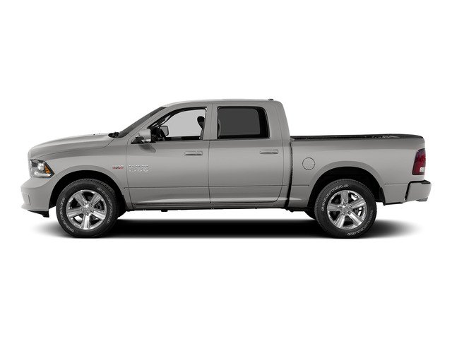 Bright Silver Metallic Clearcoat 2015 Ram Truck 1500 Pictures 1500 Crew Cab SLT 4WD photos side view