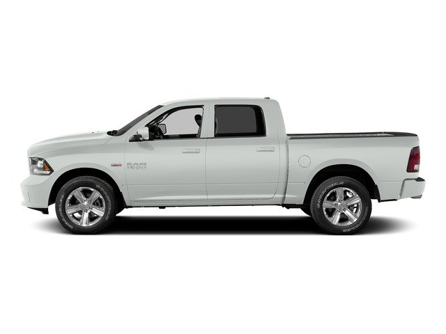 Bright White Clearcoat 2015 Ram Truck 1500 Pictures 1500 Crew Cab Longhorn 4WD photos side view